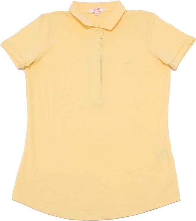 8103P polo gialla SUN 68 manica corta maglia donna t-shirt women ...