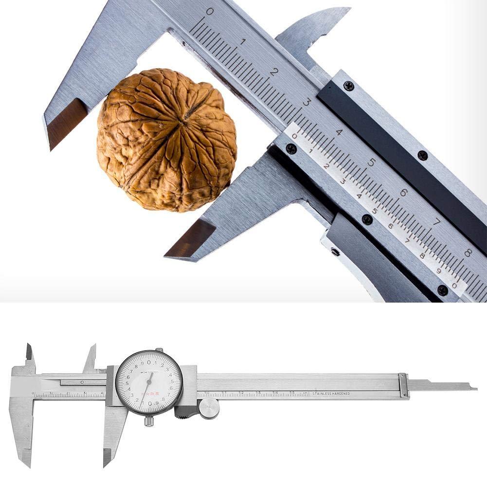 Vernier Measure Tool Adjustable Dial Vernier Caliper Stainless Steel 0-150mm 0.01//0.02mm Resolution Step Size Inside Diameter for Outside Diameter Hole Depth 0-150mm 0.02mm