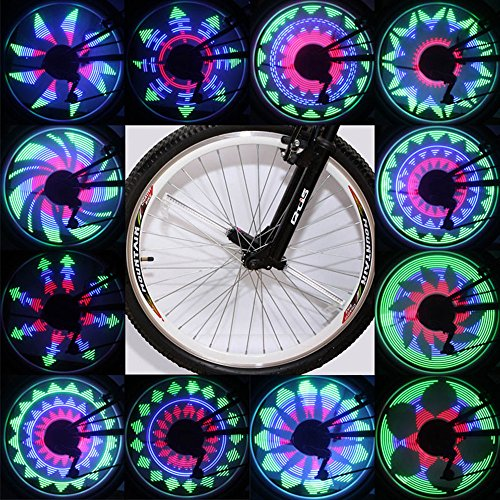 QANGEL Bicycle Spoke Light Waterproof 36 LED Lights Display Bright 32 Patterns Full Bike Wheel - Patterns Spoke Wheel