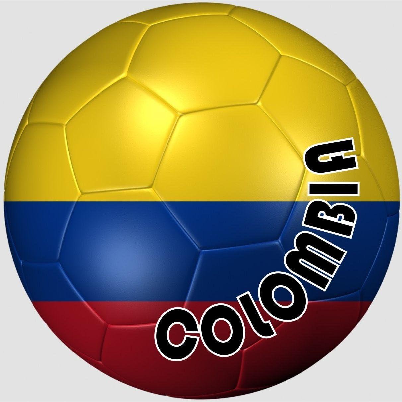 Akachafactory autocolant Sticker Equipe Voiture Moto Football Drapeau Ballon Foot Colombie