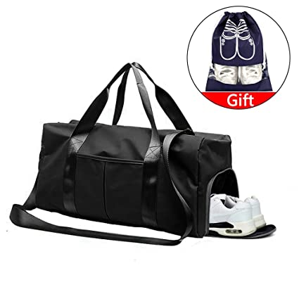 YLX Bolsas de Gimnasio, Mujeres Bolsa de Deporte Impermeable con Compartimento para Zapatos y Bolsillo Húmedo Bolsa de Viaje para Yoga Natacion ...