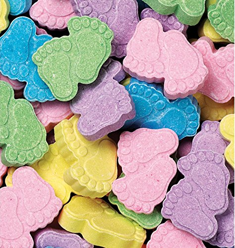 Baby Shower Shaped Candy - Wilton Favor Sweets Baby Feet , 13 Ounce, (Pack of 3)