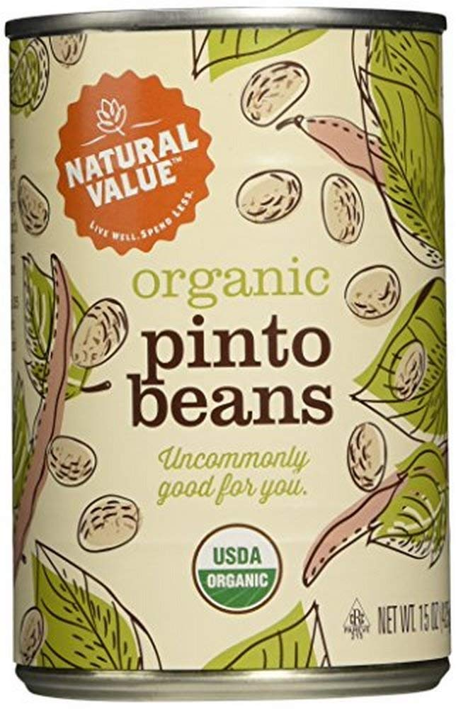 Natural Value Organic Pinto Beans, 15 Ounce Cans (Pack of 12) by Natural Value