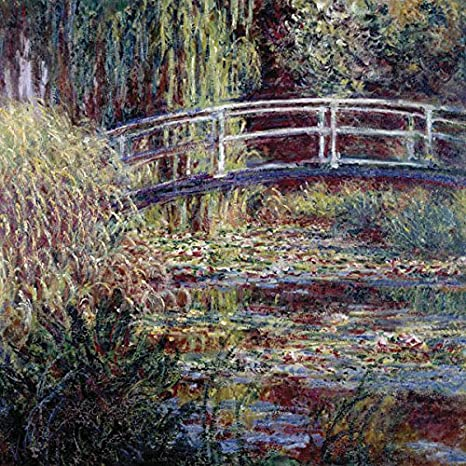 DìMò ART Cuadro sobre Lienzo con Marco Claude Monet el Estanque de Las ninfas, armonía Rosa