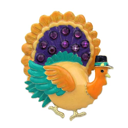a73c8d2c0 Amazon.com: cocojewelry Turkey Brooch Pin Necklace Pendant Thanksgiving  Jewelry: Jewelry