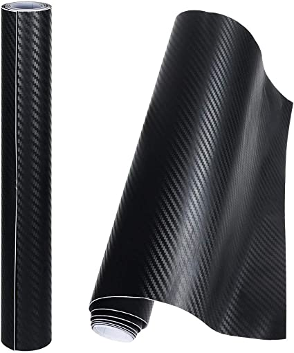 Aire Todos los Tipos de Carbono Fibra Envoltorio Vinilo Negro Brillante o Mate