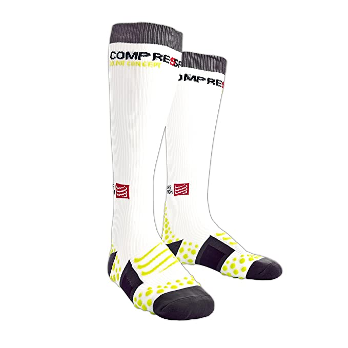 Compressport Full Socks - Calcetines Running - Blanco 2017: Amazon.es: Ropa y accesorios