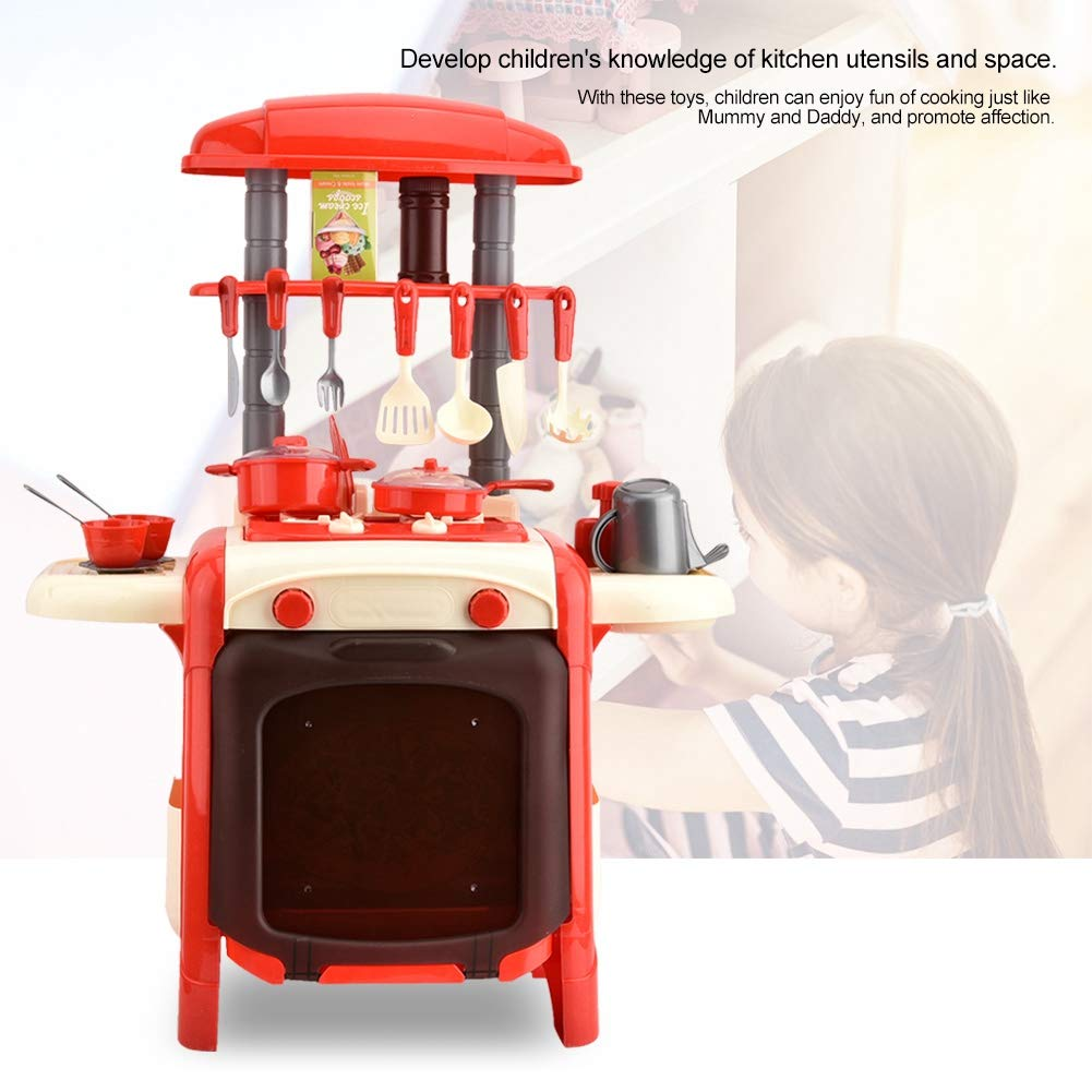 Amazon.com: Dilwe Kitchen Playset Play Food Cooking Pretend ...