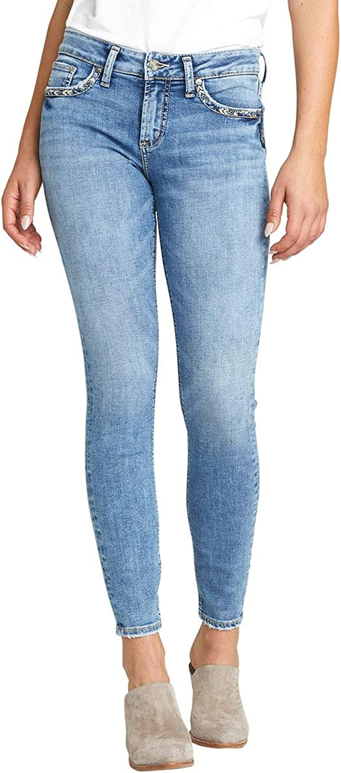 Details about  /Silver Jeans Co Women/'s Elyse Relaxed Fit Mid-Ris Choose SZ//color