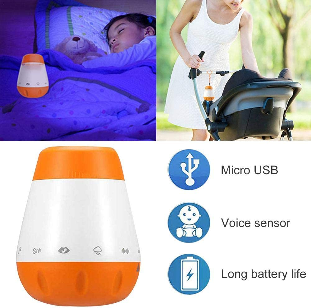 Instrument Sound Machine Baby Lullaby Sound Machine with USB Timer 6 Soothing Sounds for Sleeping Auto Shut-off Charging Sleep Aid K1 Baby Sleep Soother