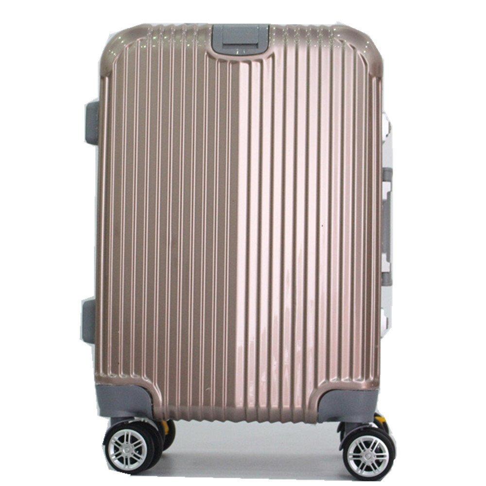 旅行用品荷物スーツケーストロリーケース プレミアム回転PCアルミ合金フラットボックスボックスクラシックビジネストラベルスーツケース20/24/28インチ (サイズ : 24) B07SMR25YY  24