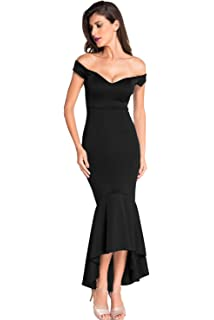 9ffdabe720d Ouregrace Womens Fishtail Long Evening Dress Off Shoulder Party Dress