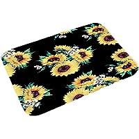 Piokikio New Home Bedroom Doormat Floor Soft Non-slip Sunflower Mat Rug Carpets Shoulder Bags