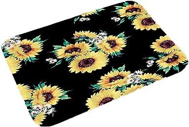 Zouvo New Home Bedroom Doormat Floor Soft Non-slip Sunflower Mat Rug Carpets Shoulder Bags