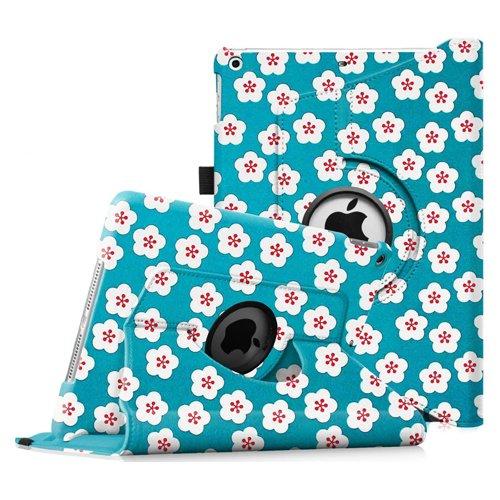 Fintie iPad mini 3/2/1 Case - [Oriental Breeze Series] 360 Degree Rotating Multi-Angle Stand Smart Cover with Auto Wake/Sleep Feature for iPad mini 3 / iPad mini 2 / iPad mini, Floral Blue