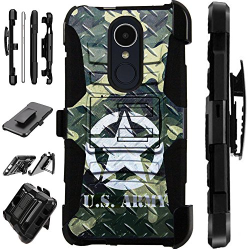 Compatible Coolpad Legacy (Metro) Case Armor Hybrid Phone Cover LuxGuard Holster (US Army Crosshatch)