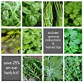 Chef's HERB GARDEN SEED KIT - 10 Seed TypesSave 25% Arugula, Basil, Chives, Cilantro, Dill, Oregano, Parsley, Rosemary, Sage, Thyme - Organic