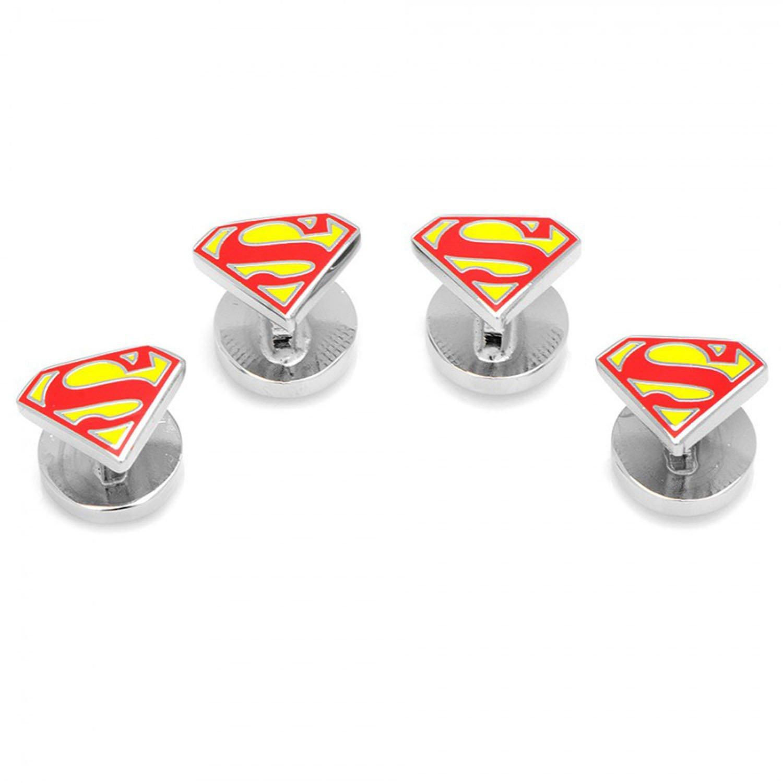 Enamel Superman Shield Tuxedo Studs