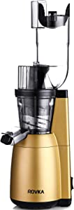Slow Masticating Juicer, High Vitamin And Nutrient Juice Extractor