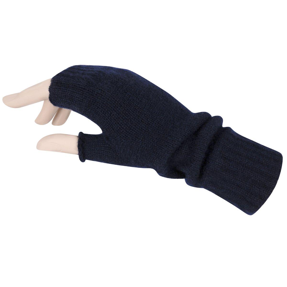 ScotlandShop De las mujeres sin dedos guantes de cachemira pura fabricada en Escocia