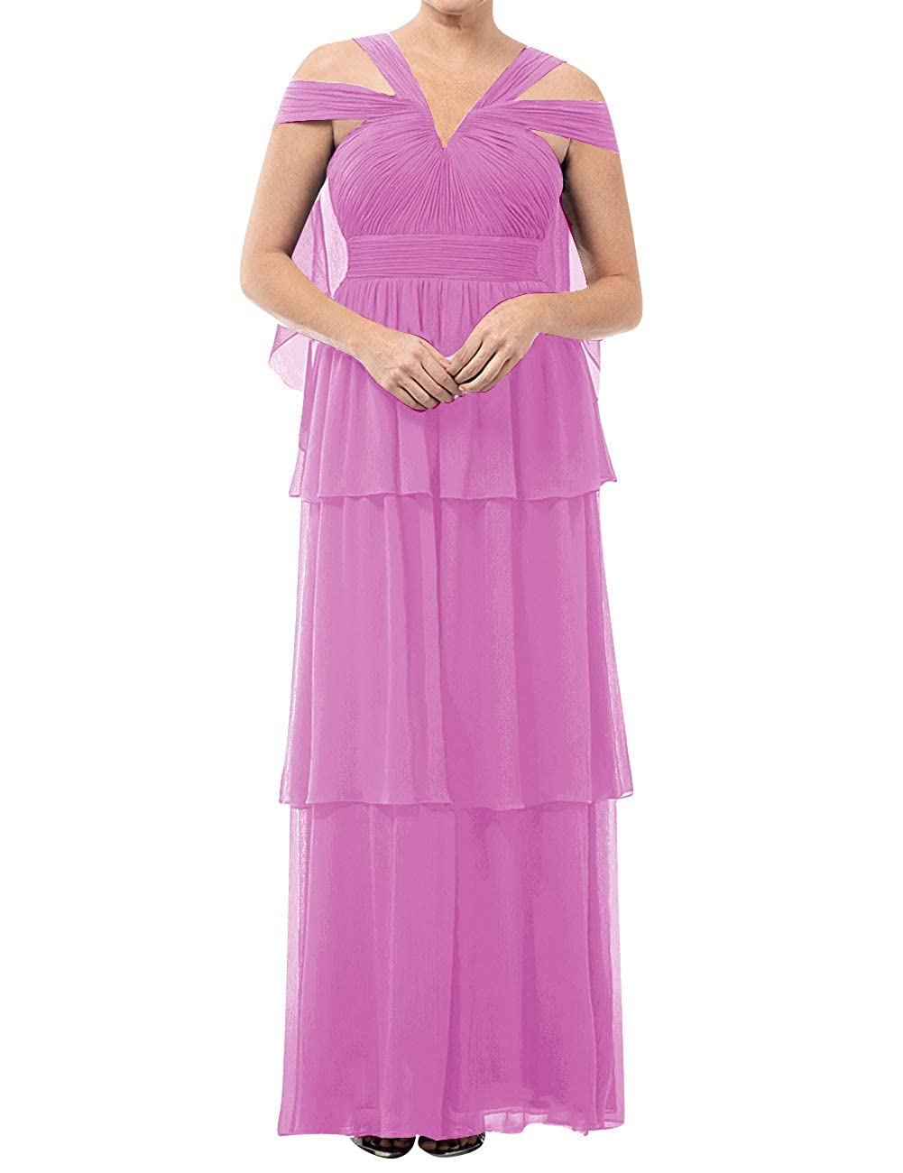 purplec Mother of The Bride Dresses VNeck Long Mother of Groom Dress Plus Size Evening Gowns