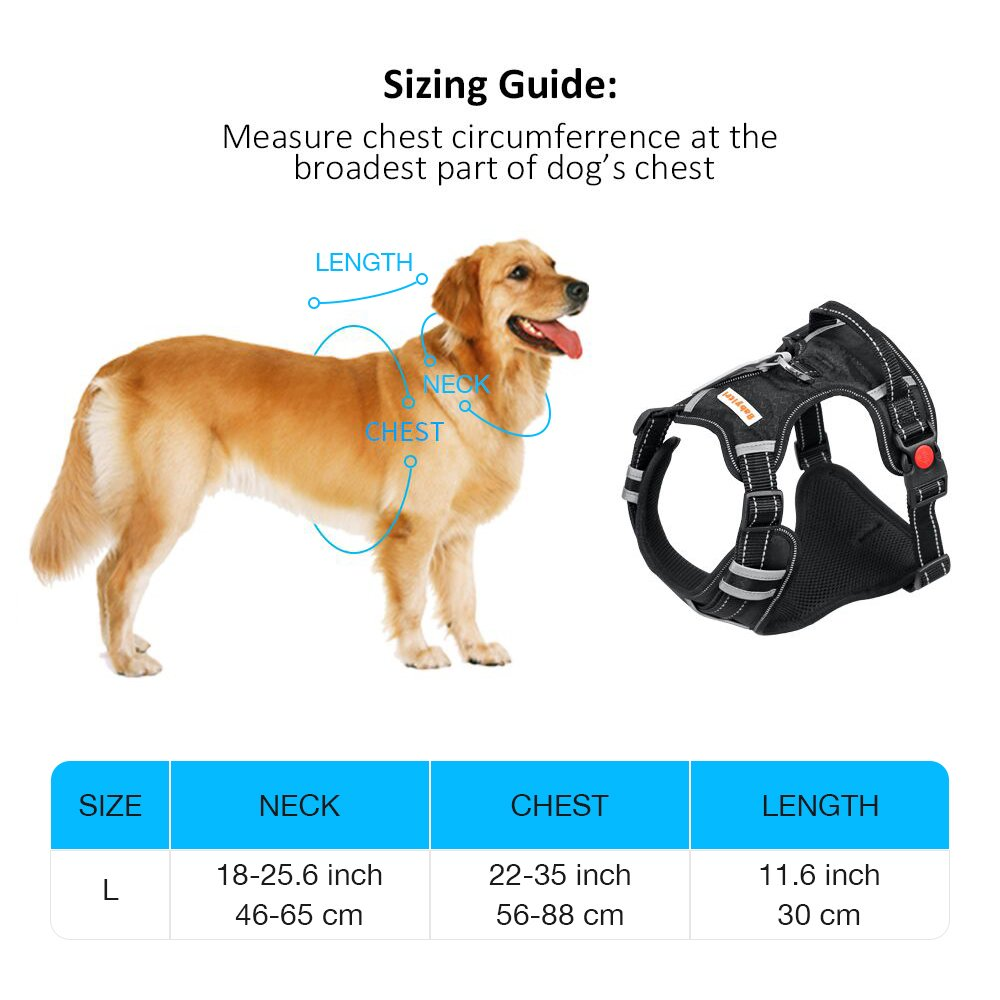 Big Dog Harness No Pull Adjustable Pet Reflective Oxford Soft Vest for Large Dogs Easy Control Harness by Babyltrl (Image #6)