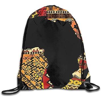 Bolsos con Cordón Estilo De Arte Abstracto Africano Mapa De ...