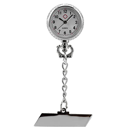 Nurses Pocket Watch Clip-on Fob Brooch Lapel Pin-on Hanging SIBOSUN Doctor  Paramedic Health Care