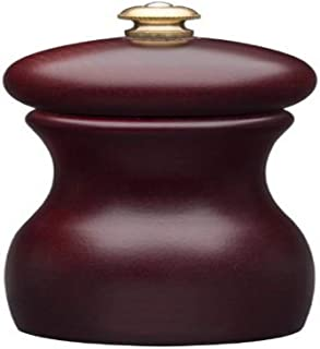product image for Fletchers' Mill Marsala Collection Salt Mill, Mahogany - 4 Inch, Adjustable Coarseness Fine to Coarse, MADE IN U.S.A.