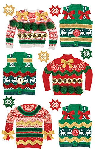 Daisy D Scrapbook Paper (Paper House Productions STDM-0265E 3D Stickers, Ugly Sweaters)