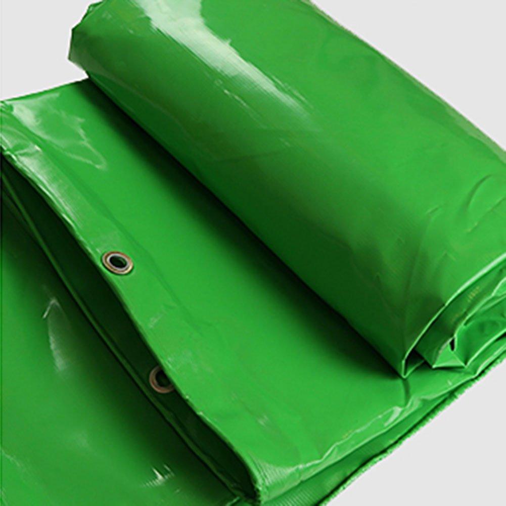 CHAOXIANG 厚い 両面 防水 日焼け止め 耐高温性 耐寒性 耐摩耗性 耐食性 防塵の PVC、 3色、 600g/m 2、 厚さ 0.61mm、 8サイズ (色 : 緑, サイズ さいず : 3x3m) B07D8TWJXR 3x3m|緑 緑 3x3m