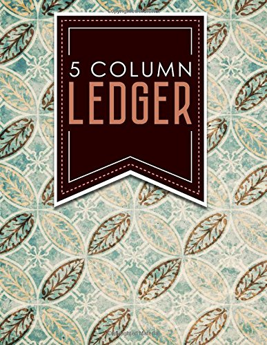 """Download 5 Column Ledger: Ledger Books, Accounting Ledger Sheets, General Ledger Accounting Book, Vintage/Aged Cover, 8.5"""" x 11"""", 100 pages (Volume 10) pdf"""