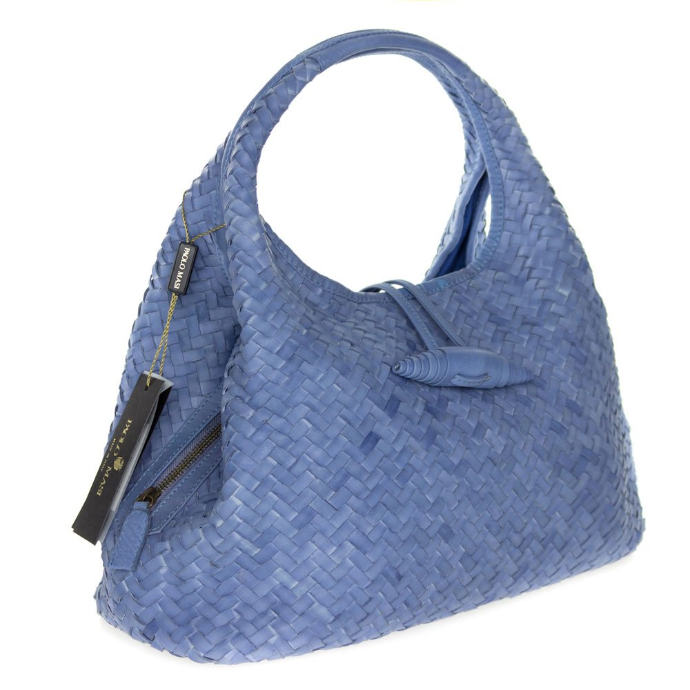 ceedc52be0e Amazon.com: Paolo Masi Italian Made Periwinkle Blue Hand Woven ...