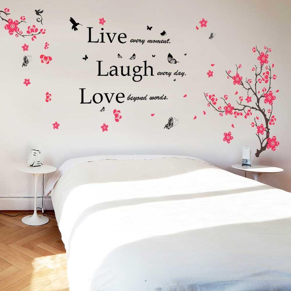walplus wall stickers flower blossom butterflies quote walplus wall stickers flower blossom butterflies quote