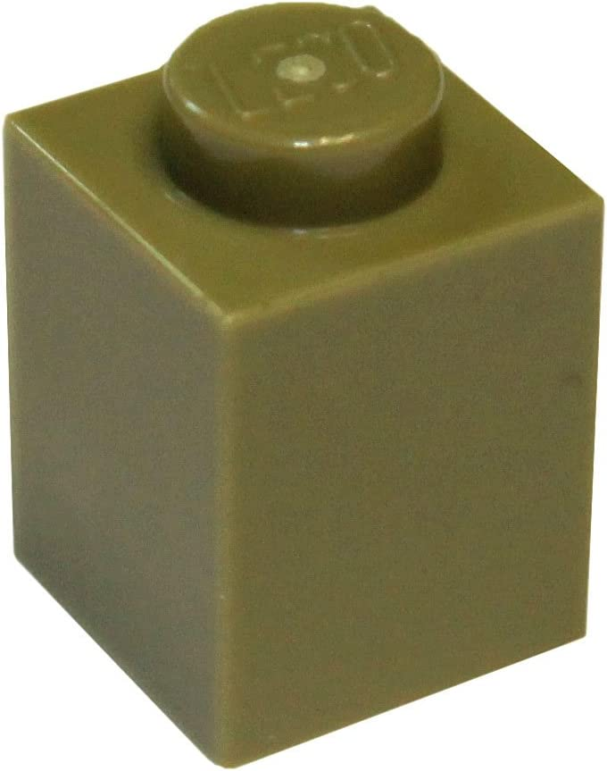 LEGO Parts and Pieces: Olive Green 1x1 Brick x200