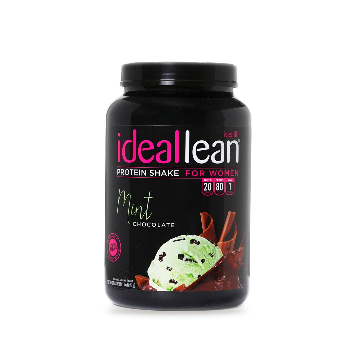 IdealLean - Nutritional Protein Powder for Women | 20g Whey Protein Isolate | Supports Weight Loss | Healthy Low Carb Shakes with Folic Acid & Vitamin D | 30 Servings (Chocolate Mint) by IdealFit