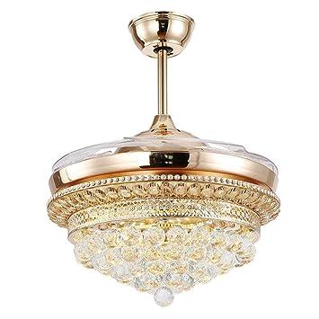 deckenventilatoren im freien mit licht loft vintage 42zollledkristallkronleuchter deckenventilator licht klappventilator kronleuchter wohnzimmer esszimmer dekoration