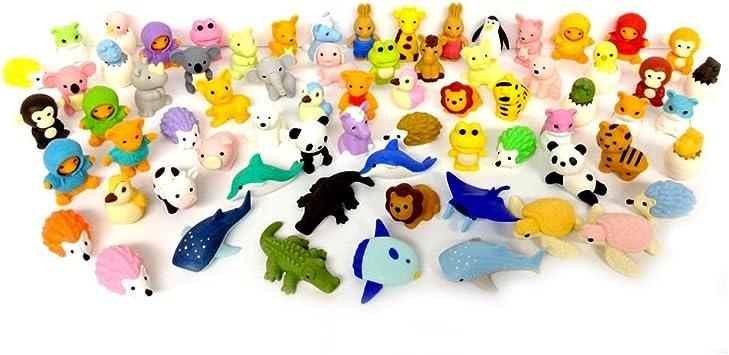 IWAKO Japanese Novelty Animal Puzzle Eraser Rubber Sets MULTI-LISTING