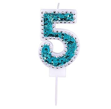 Amazon.com: Willcan - Velas con números de cumpleaños con ...