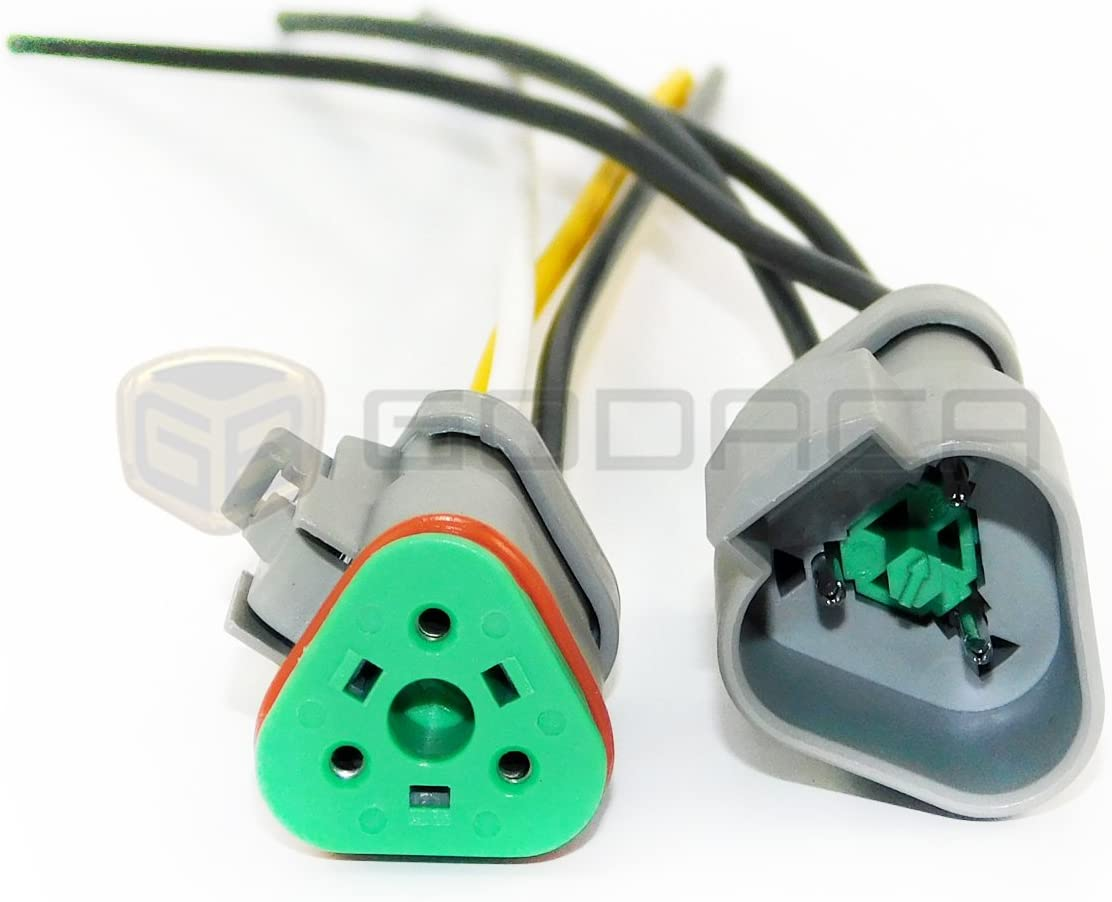 Set Female male 3-way Repair Wiring Pigtail Connector Harness for Honda