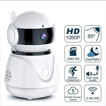 GWJ Cámara De Seguridad, Cámara IP Inalámbrica 1080P HD WiFi Inicio Vigilancia Video Cámara IP Visión Nocturna para Mascota Mayor Baby Nanny Casa Monitor De ...