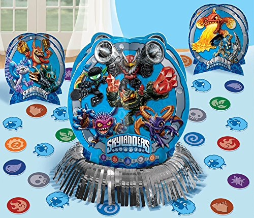 "Amscan Swashbuckling Skylanders Birthday Party Table Decorating Kit (23 Pack), 12 1/2"", Blue"
