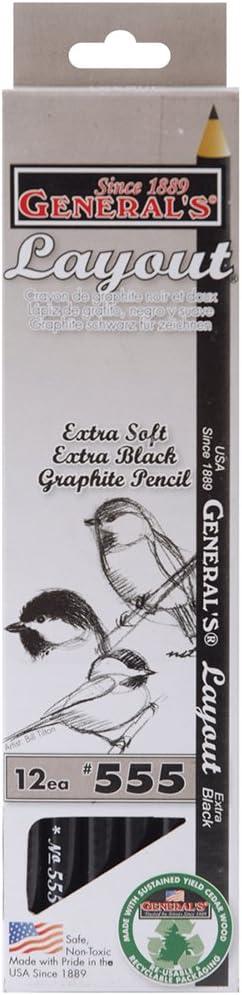 General Crayon diff/érents Page Graphite Dessin 12/kg 6B