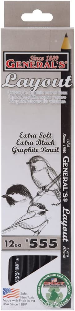General/'s Layout Extra Black Pencils 12-Count Package 12-Count