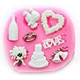 La Tartelette Silicone Mold Mini Fondant Silicone Sugar Craft Mold - Love Wedding Accessories