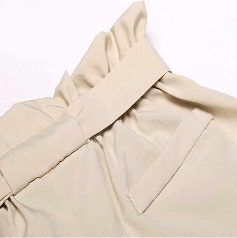 Vepodrau Les Femmes Taille Haute Auto Cravate Paperbag Short Pliss/ée Pantalons /À Poches
