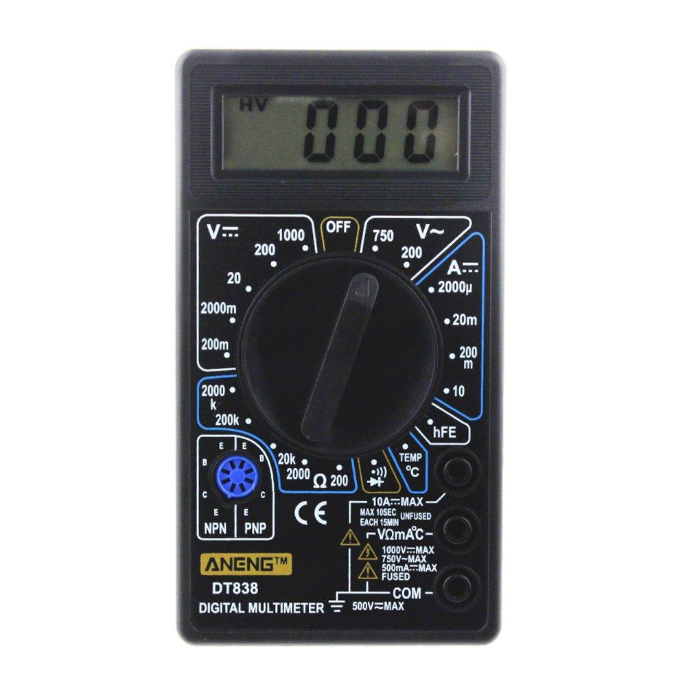 DOMYBEST DT-838 LCD Numé rique Multimè tre AC/DC 750/1000V Dé tecteur de Tension Voltmè tre Ohmmè tre Ampè remè tre Sonde de Tempé rature 139044