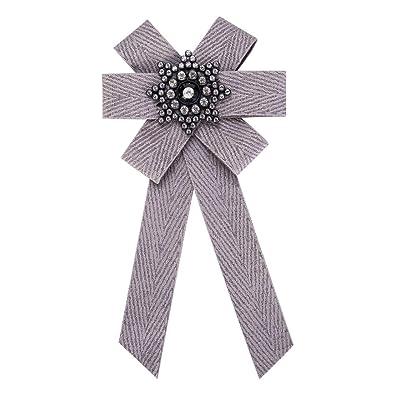 Ellaao Mujeres Faillel Bow Broche Pre-Atado Corbata Broches ...