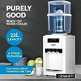 Devanti 22L Water Cooler Dispenser Hot Cold Filter Purifier Bench Top Three Taps