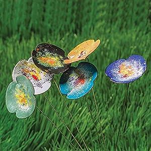 ART & ARTIFACT Copper Enamel Flowers - Indoor/Outdoor Metal Floral Bouquet Decor for Potted Plants, Garden and Yard 2
